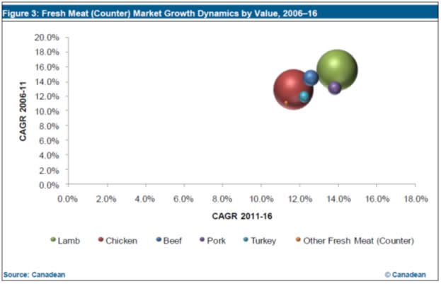 Fresh Meat (Counter) Market in India to 2016: Market Profile